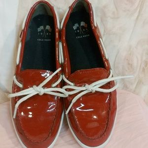 Cole Haan Shoes - Cole Haan Red Patent Leather Loafers